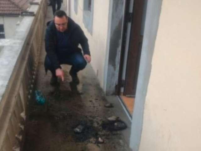Sediul PSD Cluj, atacat cu un cocktail Molotov