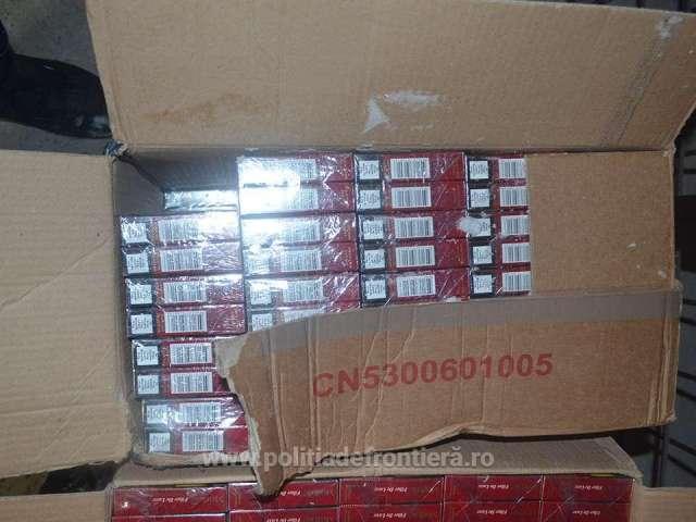FOTO: Vișeu de Sus, Valea Vișeului, Siret și Vicovu de Sus - 7.300 pachete de țigări de contrabandă, confiscate