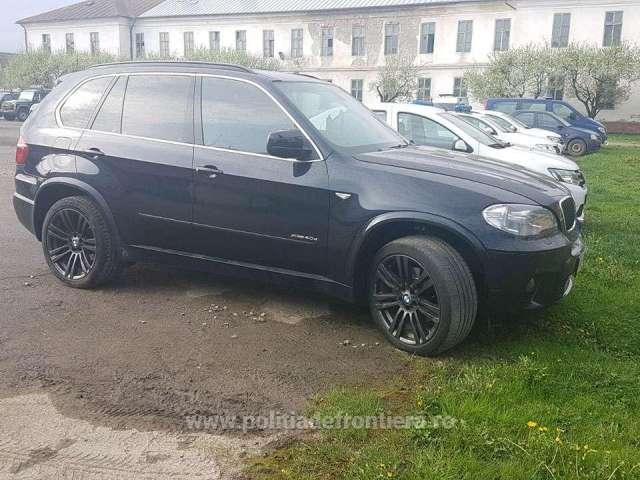 BMW X5 furat din Anglia, descoperit în Sighet de către polițiștii de frontieră