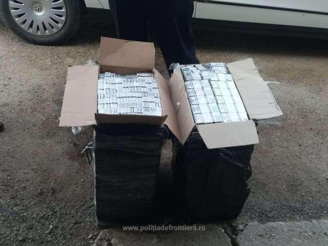 FOTO: SIGHET - 990 pachete de țigări transportate peste graniță cu drona. Un maramureșean de 38 ani a fost reținut