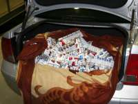 Sighetean prins în timp ce transporta ţigări de contrabandă pe DN 18