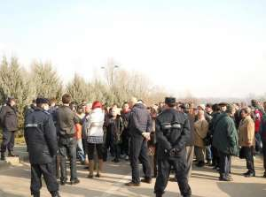 Sighetenii protestează din nou la Punctul de Trecere al Frontierei cu Ucraina