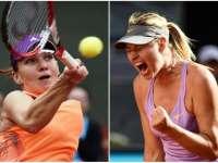 Simona Halep, învinsă de Șarapova în două seturi, la Turneul Campioanelor din Singapore