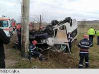 Șoferul microbuzului școlar răsturnat între Deva și Hunedoara consumase alcool