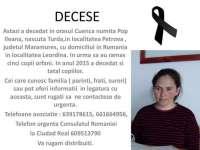 SPANIA - APEL DISPERAT: Este căutată familia unei femei decedate în Spania, originară din Petrova. În urma acesteia au rămas cinci copii orfani