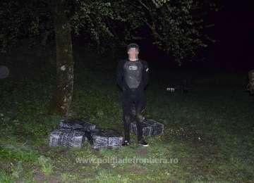 SPF SIGHET - Cetățean ucrainean reținut după executarea de focuri de armă și peste 3.800 pachete țigări confiscate de către frontieriști