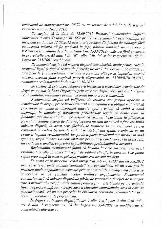 EXCLUSIV SIGHET 247 - Doctorul Ștefanca Vasile a câștigat procesul cu Primarul Sighetului: Tribunalul Maramureș arată că destituirea sa din funcție a fost ILEGALĂ. Primăria trebuie să îi plătească acestuia peste 1,4 miliarde de lei