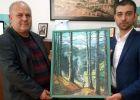 """Tabloul """"Cascada Cailor"""", oferit CADOU președintelui CJ Maramureș de către Fundația """"Uniunea Hutulilor"""""""