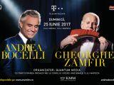 Tenorul Andrea Bocelli și naistul Gheorghe Zamfir - joi și duminică, în duet la București și Cluj-Napoca