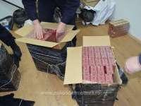 Țigări de contrabandă ascunse în saci cu furaje pentru animale