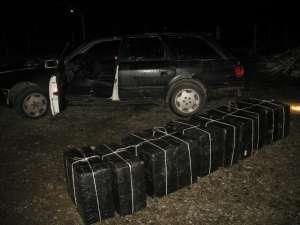 Țigări de contrabandă confiscate cu focuri de armă la frontiera cu Ucraina