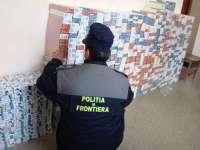 Țigări de contrabandă confiscate de polițiștii de frontieră la Crăciunești