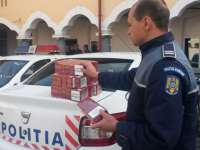 Țigări de contrabandă confiscate de poliţiştii sigheteni