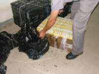 Tigari de contrabanda confiscate langa Sarasau