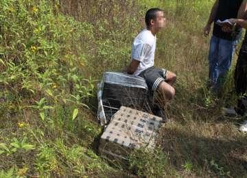 Țigări în valoare de 96.000 de lei confiscate de către polițiștii de frontieră la Sarasău