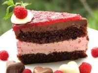 Tort cu zmeură şi ciocolată