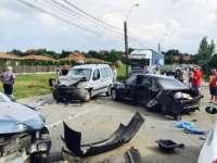 ULTIMA ORĂ - Accident grav cu trei mașini implicate la ieșirea din Baia Mare