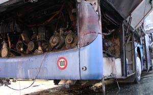 Un autobuz plin cu pasageri a luat foc pe raza localităţii Tisa