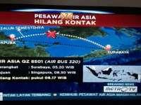 Un avion cu 162 de pasageri a dispărut între Indonezia și Singapore