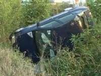 REMEŢI: Un borşean a plonjat cu autoturismul în vale după ce a pierdut controlul volanului