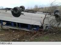Un microbuz cu elevi s-a răsturnat pe șoseaua dintre Deva și Hunedoara
