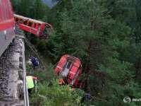 Un tren a deraiat în Elveţia