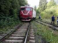 Un tren internațional a deraiat la Băile Tușnad