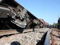 Un tren marfar a deraiat lângă Deva; circulația este restricționată