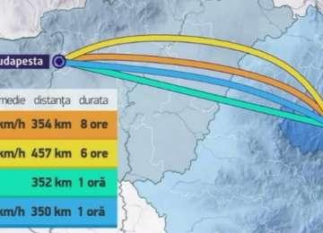 UNGARIA va construi trenul rapid care va ajunge de la Cluj-Napoca la Budapesta în 60 de minute