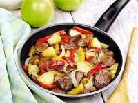 Ușor de gătit și gustos - Ficăț›ei de pui cu legume