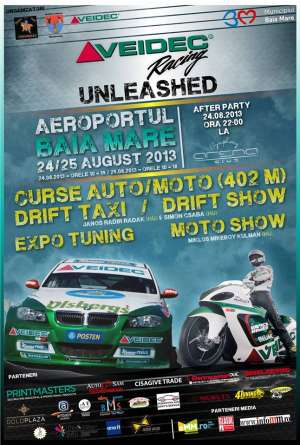 VEIDEC Racing Unleashed: curse, drift şi tuning la Baia Mare pe 24-25 August!