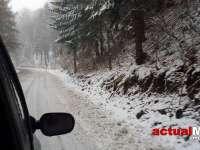 VIDEO: A VENIT IARNA - Ninge abundent pe DN 18. Trafic îngreunat în Pasul Gutâi