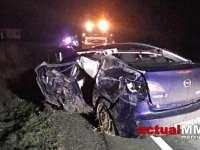 VIDEO: ACCIDENT GRAV în Maramureș - Un șofer a spulberat o căruță și s-a răsturnat în porumb