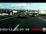 VIDEO: Accident pe DN1C, surprins de o cameră de bord