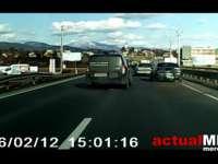 VIDEO: Accident pe DN1C, surprins de o cameră de bord