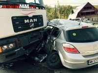VIDEO - ACCIDENT: Un șofer din Săpânța și bebelușul lui, răniți în drum spre Cluj Napoca
