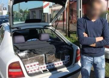 VIDEO: Autoturism plin cu țigări de contrabandă depistat la Sighetu Marmaţiei