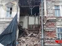 VIDEO: BAIA MARE - Clădire prăbușită pe strada Vasile Lucaciu