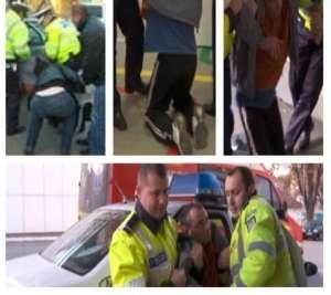 VIDEO - BAIA MARE: Un şofer care a provocat un accident era atât de beat încât a fost dus pe sus la Spital de poliţişti