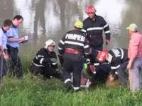 VIDEO: Bărbat din Ieud căzut în Someş, salvat în ultimul moment