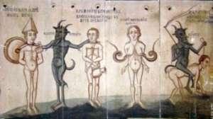 MARAMUREŞ: Biserica pictată cu draci îi îngrozeşte pe săteni. Localnicii se tem să intre în lăcaş