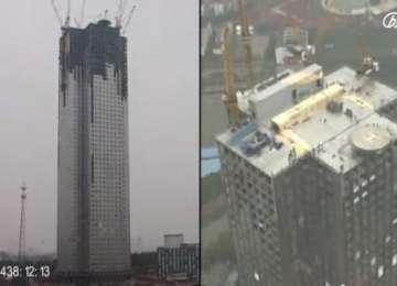 VIDEO: Bloc de 57 de etaje din China, construit în numai 19 zile