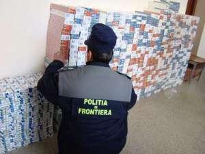 VIDEO - Captura record a politistilor de frontiera: Tigari in valoare de 176.000 de euro