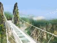 VIDEO - China: Cel mai lung pod de sticlă din lume, închis temporar ca urmare a afluxului de turiști