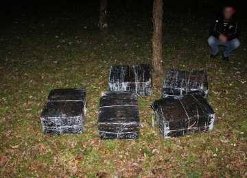 VIDEO CONTRABANDA: Sase focuri de arma pentru retinerea unor contrabandisti de tigari