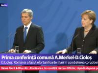 VIDEO - Dacian Cioloş a fost primit de cancelarul Germaniei Angela Merkel
