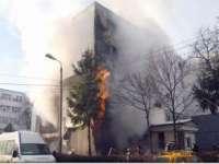 VIDEO: Explozie la un bloc din Cluj-Napoca. Trei persoane au fost rănite, şapte apartamente avariate
