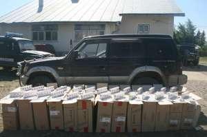 VIDEO: Focuri de armă la frontieră - 13.000 pachete de țigări confiscate de polițiștii de frontieră