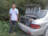 VIDEO: Focuri de armă şi ţigări de contrabandă confiscate între localităţile Petrova şi Strâmtura