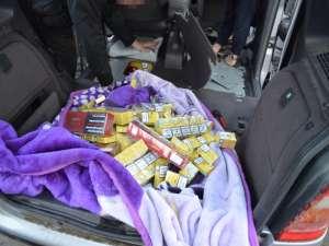 VIDEO + FOTO -- Ţigări în valoare de aproape 20.000 lei confiscate de poliţiştii de frontieră